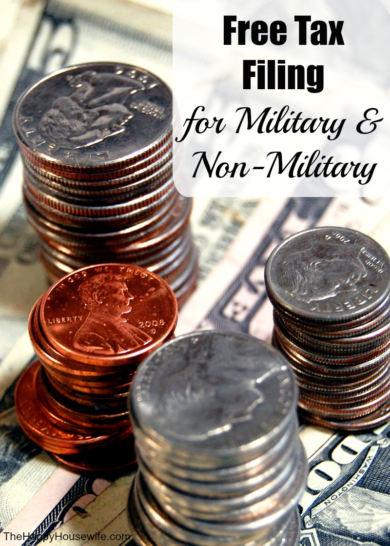 Free Tax Filing For Military And Non