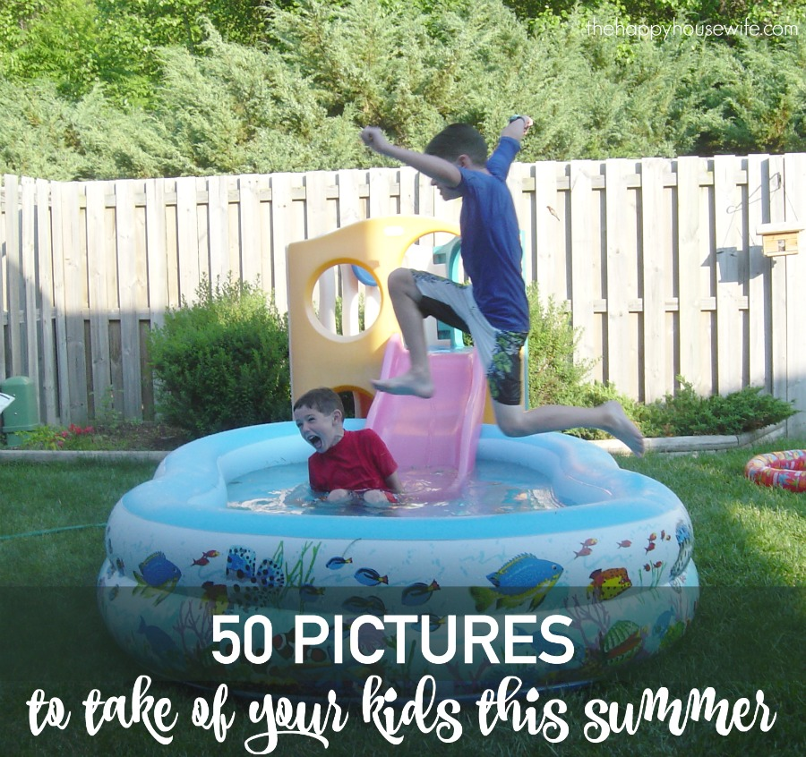 50 ideas of simple but memorable pictures to take of your kids this summer. Use it as a springboard to come up with your own photos as well.